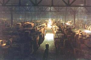Gigantic warehouse in Raiders of the Lost Ark (a la usenet retention)