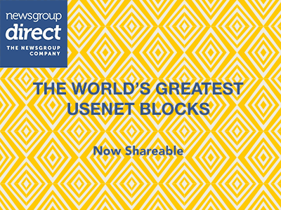 Shareable Usenet Blocks
