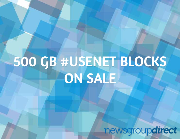 500 GB Usenet Block Sale